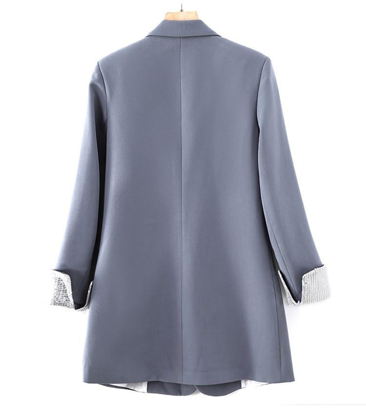 Lauri Laki Solid Blazer 2020 Double Breasted Women Jackets Plus Size Blazer Autumn Retro Outerwear Elegant Ladies Coat 2020
