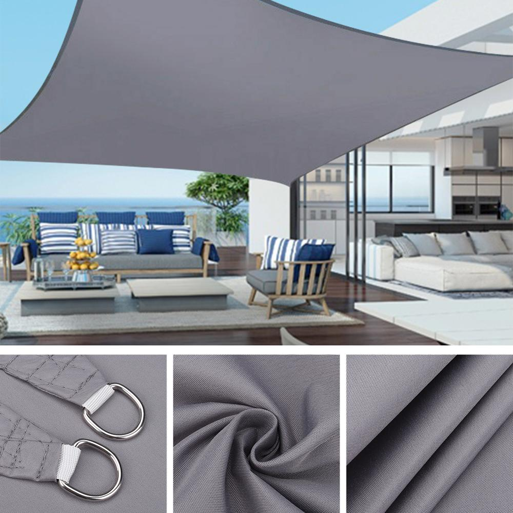 Yeahmart 4x3m Large Sun Shelter Sunshade Protection Outdoor Canopy Garden Patio Pool Shade Sail Awning Camping Shade Waterproof