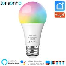 цена на Lonsonho Wifi Smart Light Bulb Wireless Remote Control Led Lamp 7.5W 750lm RGB+6500K E27 Works With Alexa Google Home IFTTT