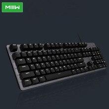 MIIIW Gaming Mechanische Tastatur 600K 104 Tasten Red Schalter USB Verdrahtete 6 Modus Weiß LED Backlights Tastatur Für Büro verwenden
