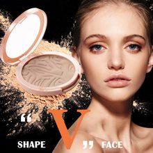 Crema bronceadora polvo de maquillaje compacto resaltador de cara paleta de contorno brillo marrón cara polvo contorno paleta bronceador bueno EE. UU.