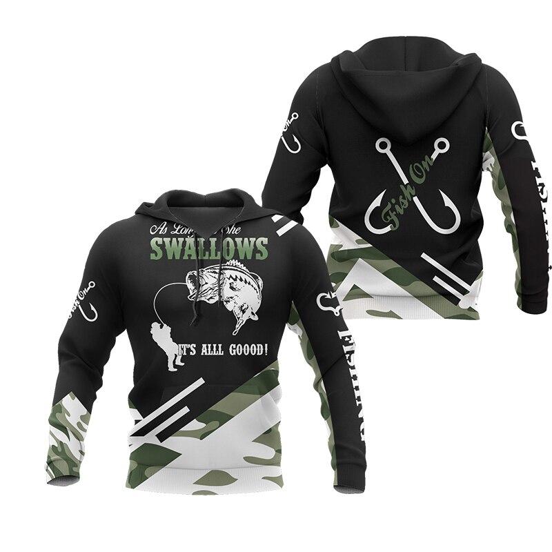 PLstar Cosmos New Fisherman fisher Fishing Art Harajuku casual Tracksuit Funny 3D Print Hoodies/pullover/Jacket/Men Women-55