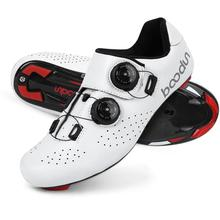 Cycling-Shoes Road-Bike BOODUN Racing Ultralight Professional Outdoor Summer Breathable