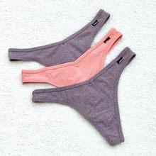 3 adet/grup V bel pamuk G-String tanga külot dize iç çamaşırı kadın külot seksi iç çamaşırı pantolon düşük katlı bayanlar samimi T geri