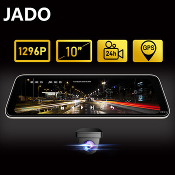 JADO Dash Cam 10 Inch Car Camera 24Hour Parking Monitoring Dvr Dash Camera IPS Screen Dash Camera Auto Video recorder HD 1296P dash camera junsun h9p
