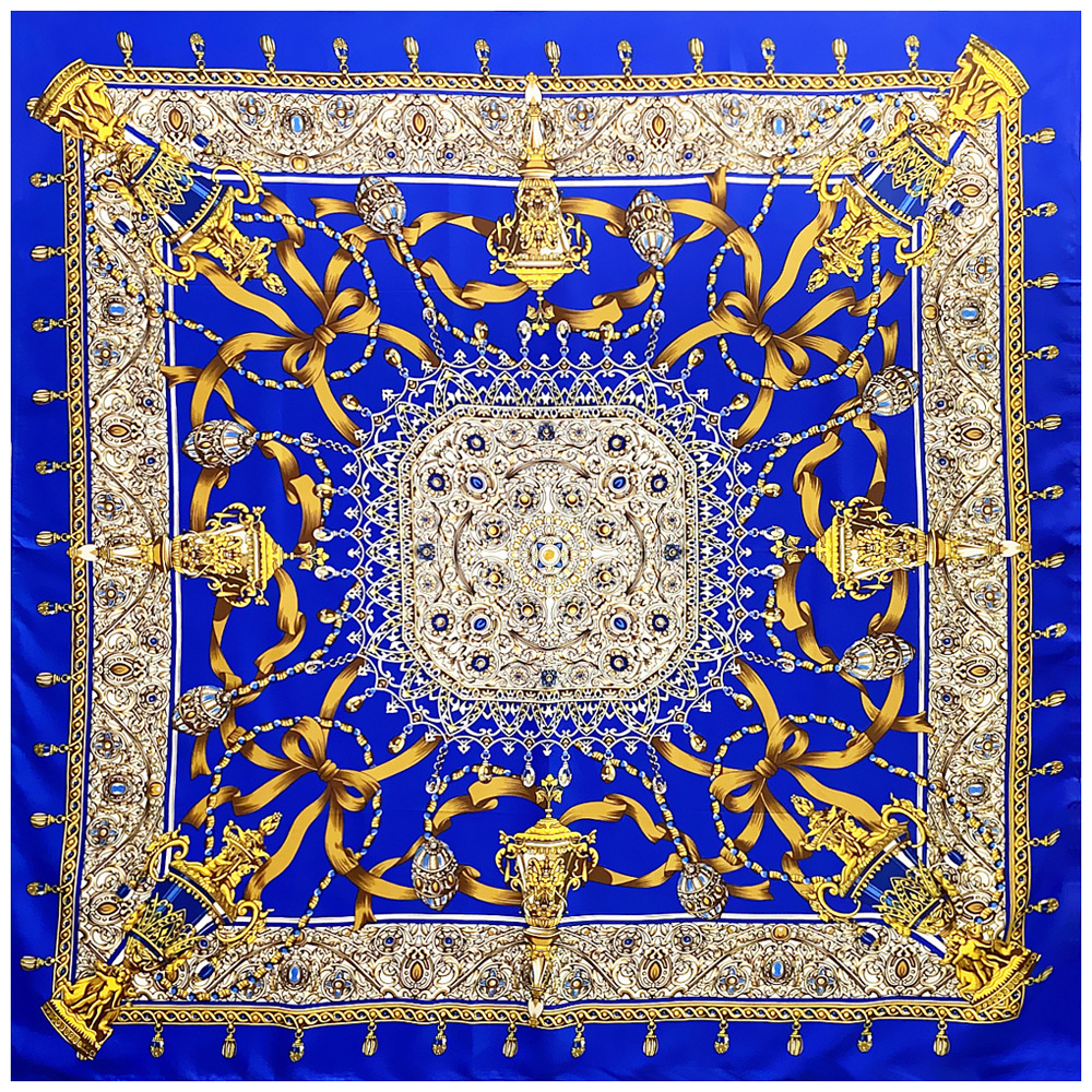New 100% Silk Scarf Women Large Shawls Diamonds Square Bandana Luxury Kerchief Hijab Scarf Female Foulards 130CM
