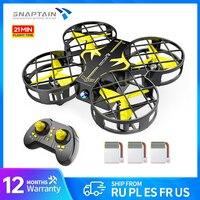 SNAPTAIN-dron de bolsillo H823, cuadricóptero de control remoto con 3 baterías, Mini dron portátil rc con mantenimiento de altitud, modo sin cabeza, volteador 3D, Juguetes