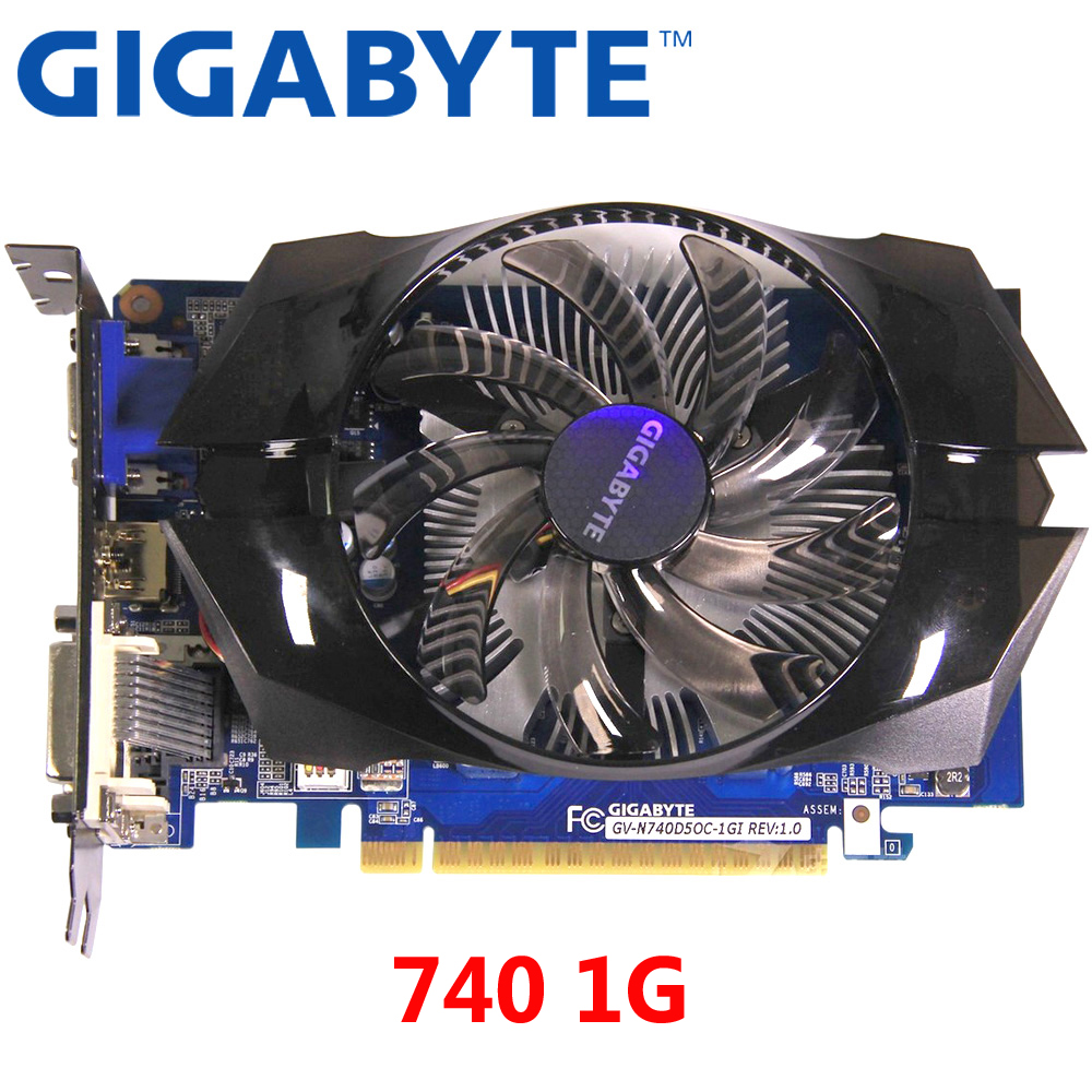 GIGABYTE GT740 1GB Graphics Card 128Bit GDDR5 Video Cards For NVIDIA Geforce GT 740 1G VGA Cards Stronger Than GTX650 Used