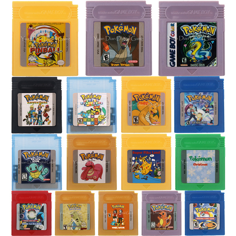 16 Bit Video Game Cartridge Console Card Poke Series English Language Version For Nintendo GBC 1
