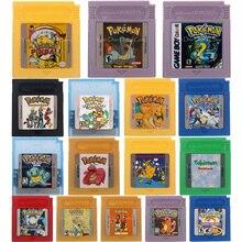 16 бит картридж для видеоигр консоль карта Poke серия версия на английском языке для Nintendo GBC