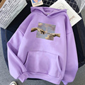 Hands print Oversized Womens hoodie Kawaii Loose Streetwear Sweatshirts Women Hooded Simple Pullovers Korean Style Warm