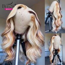 Парики Из Натуральных Человеческих Волос Медово блонд 30 дюймов