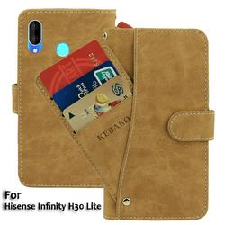 На Алиэкспресс купить чехол для смартфона leather wallet hisense infinity h30 lite case 6.1дюйм. flip retro luxury front card slots cases cover business magnetic phone bags