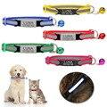 Нейлоновый ошейник, персонализированный ошейник со светоотражающей гравировкой, с индивидуальным дизайном, для маленьких собак и кошек, по...