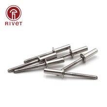 Sujetadores de remache de acero inoxidable 304, Remaches de cabeza redonda de cúpula, remache de extremo cerrado, m6.4 x 10/12/13/15/16/18/20/25/30/35mm, 10 Uds.