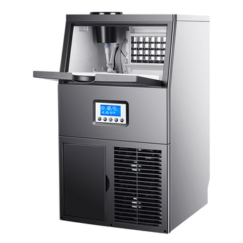 Ice machine commercial milk tea shop large 45kg ice cube making small household automatic ice crushing ice making machine commercial milk tea shop ice making machine household small student dormitory mini automatic ice making