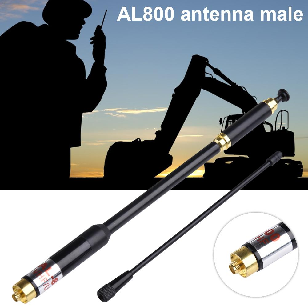 AL800 Antenna Female Walkie Talkie Antenna High Gain Dual Band Extendable Antenna SMA-Female For Two Way Radio