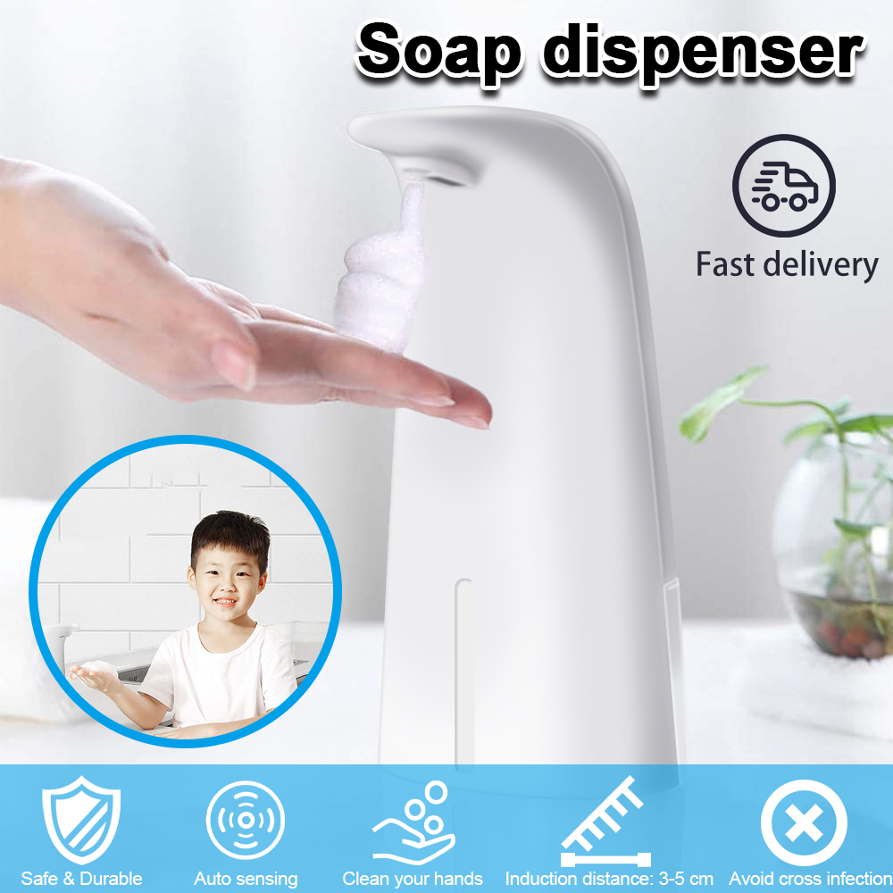 8.5oz / 250ml Countertop Non-contact Foam Soap Dispenser Liquid Soap Dispenser Automatic Induction Manual Soap Dispenser