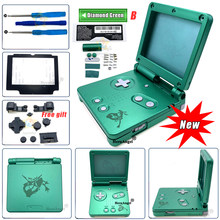 2020 New For GBA SP For Game Boy Housing Shell Cover Replacement Full Set Case For Gameboy Advance SP with Glass Dropshipping