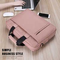 Bolso de lona para ordenador portátil, maletín a prueba de agua compatible con Notebook y Macbook Air Pro 13, de 13,3 14 15,6 17,3 pulgadas