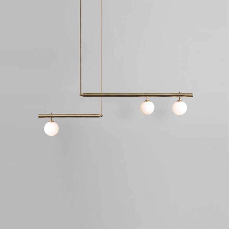 Modern Luminaria Glass Ball  Restaurant  LED  Pendant Lights Home Decoration E27 Light Fixture Hanging Ceiling Lamps
