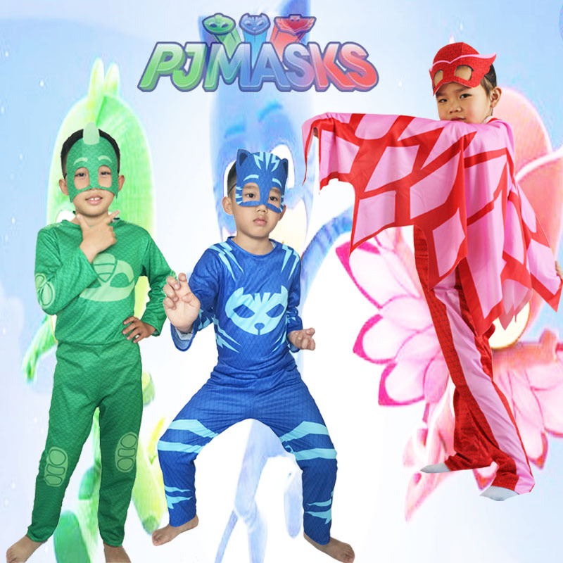 PJ Masks Toys Children Cosplay Costume Pj Mask Cloak Catboy Gekko Owlette Birthday Party Clothes Kids Gifts