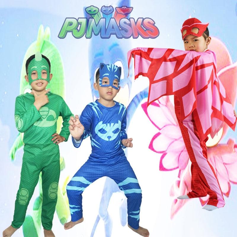 PJ Masks Toys Children Cosplay Costume Pj Mask Cloak Catboy Gekko Owlette Birthday Party Clothes Kids Gifts