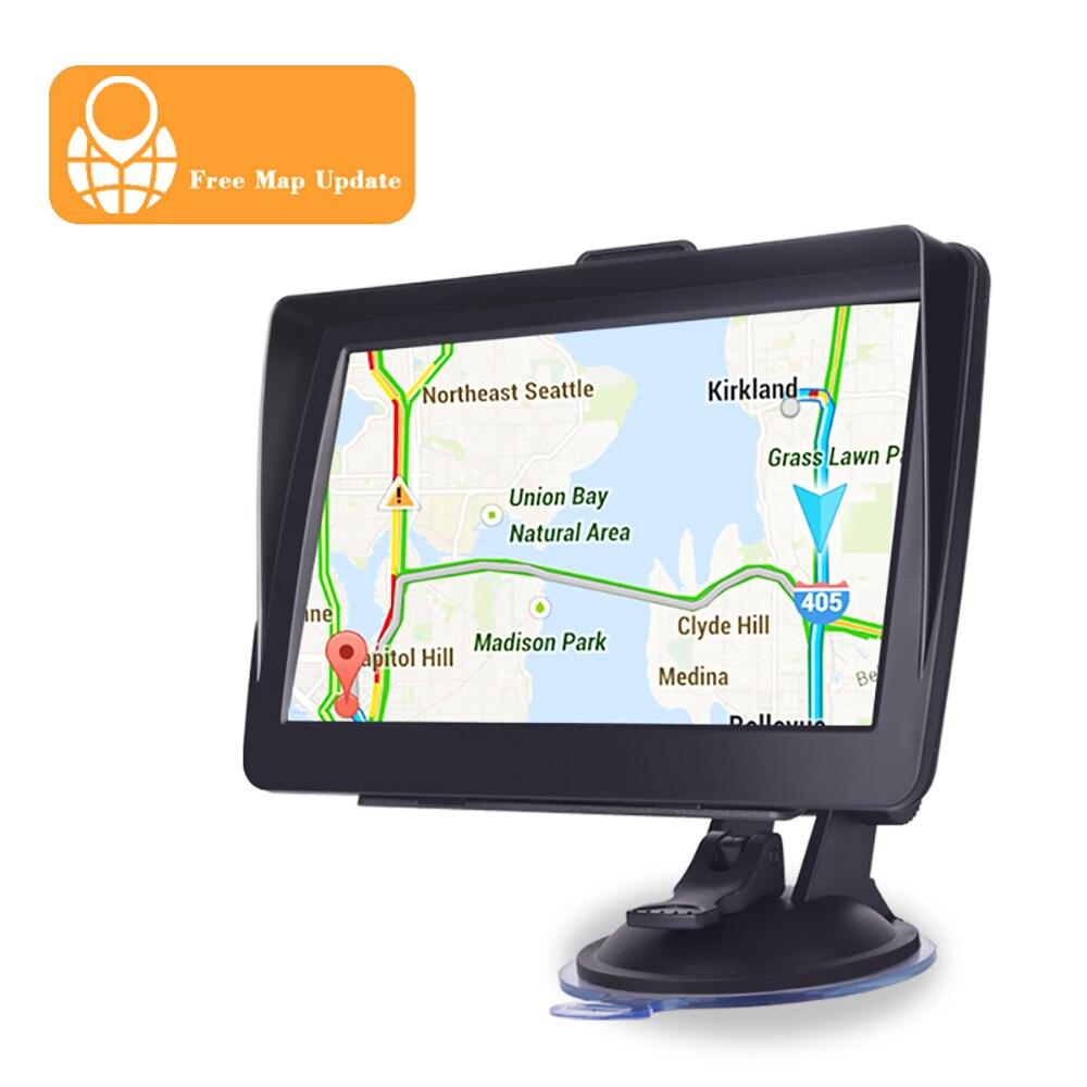 Samochodowa nawigacja gps 7 cal HD lincoln navigutorFM głos Bluetooth alarm samochodowy nawigacja samochodowa z osłoną przeciwsłoneczną klip 256MB najnowsze europa
