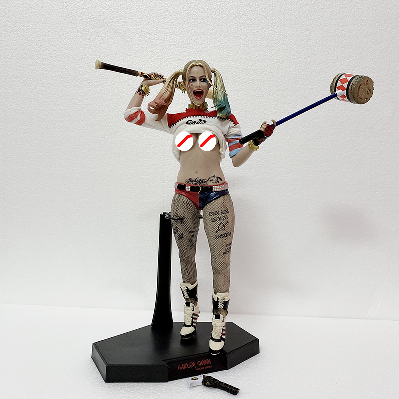 Undress Real Clothes Crazy Toys Suicide Squad <font><b>Sexy</b></font> Harley Quinn 1/6th <font><b>Scale</b></font> Acrion Figure Model Toy Gift image