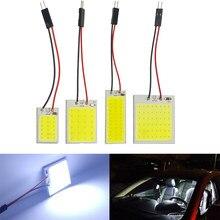 Automobile Xenon HID 18 24 36 48 COB LED Dome Map Light Bulb Auto Car Interior Panel Lamp T10 BA9S Festoon Adapter DC 12V White