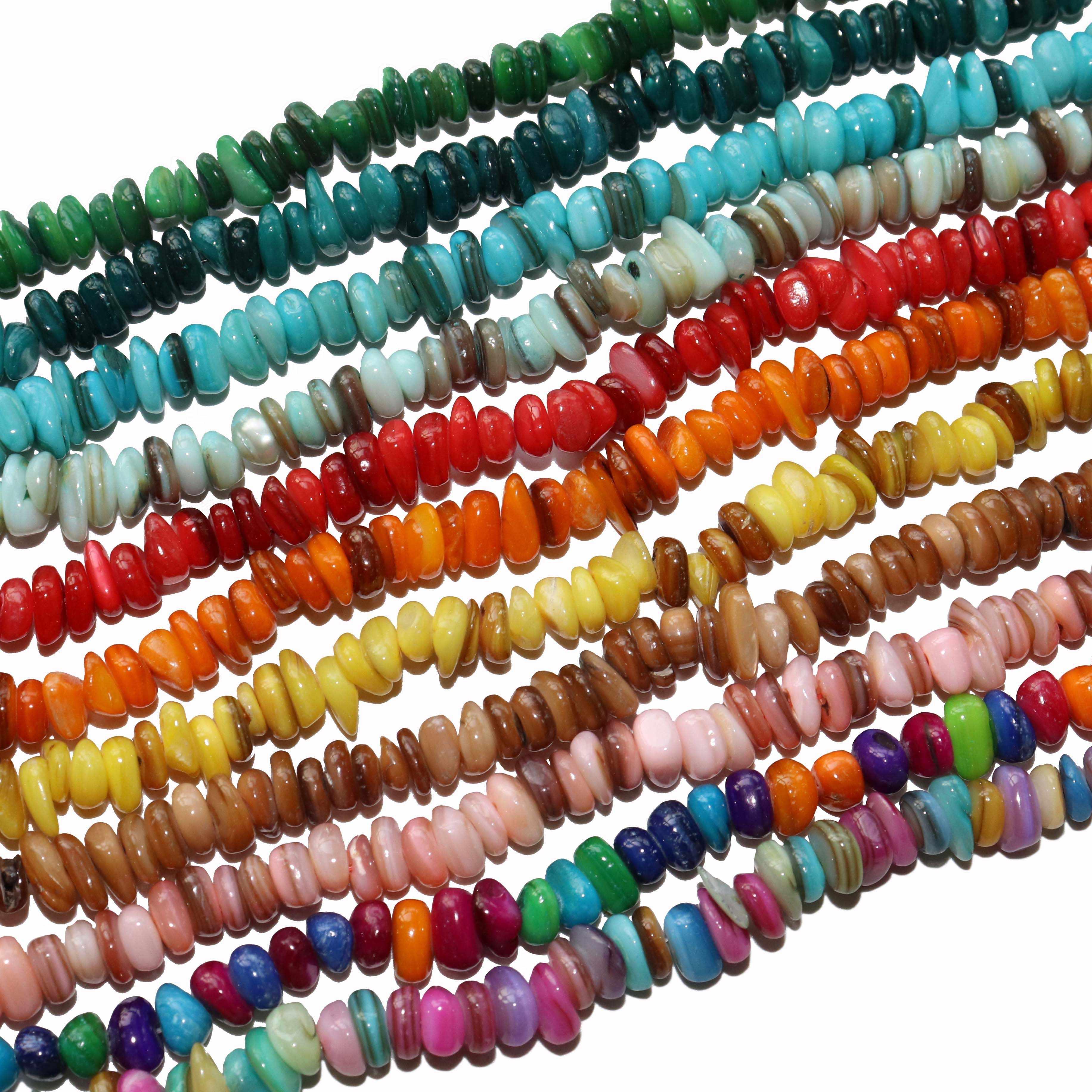 Commercio all'ingrosso Colorato Dye Borsette di Ghiaia Naturale a Forma di 5-8 MM Perline di Pietra Per La Produzione di Gioielli di Fascino DIY Del Braccialetto Della Collana materiale