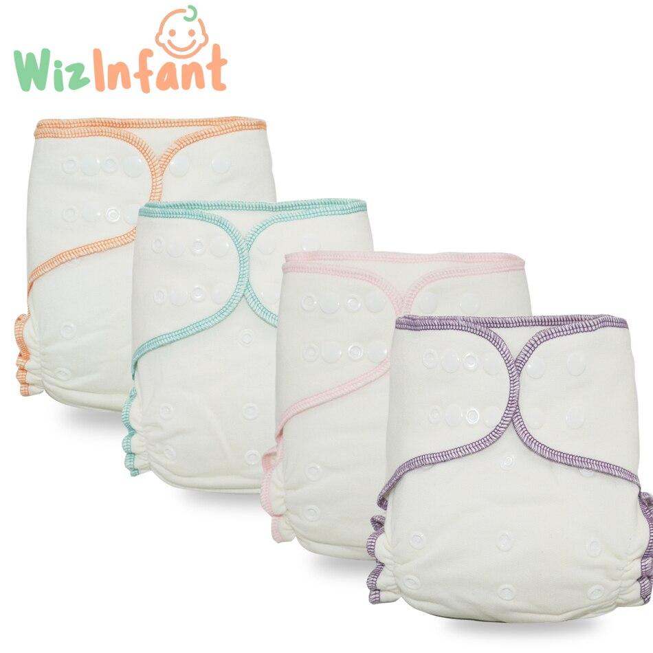 WizInfant Одноразовые Бамбуковые хлопковые подгузники многоразовые ночные подгузники AIO & AI2 моющиеся экологически чистые тканевые подгузники