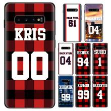 Soft Case Voor Samsung Galaxy S10e S10 Lite S9 S10 Plus S7 S8 Note 10 Plus 10 Lite 8 9 cover Exo Nummer Bos Items(China)