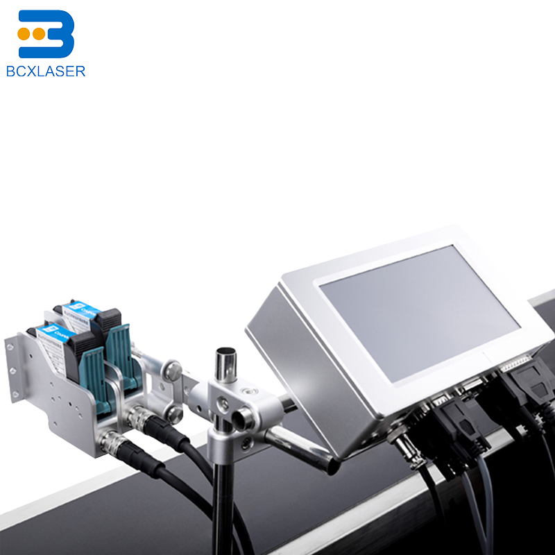 Small Character Industrial Continuous Code Inkjet Date Printer With LCD Display