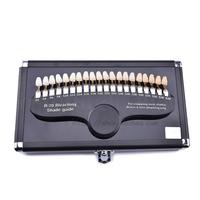 20 Colors Teeth Whitening Dental Shade Guide Bleaching With Mirror Dental Tools Accessories Portable Dental Gadgets Palette