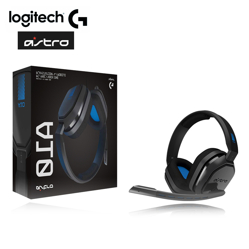 Original Logitech Astro A10 Wired Headset Esports Headphoes With MIC Gaming Earphone For PS4 Xbox/One And PC