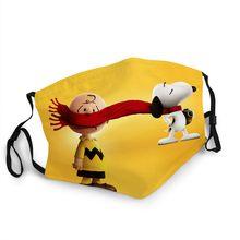 Mascarilla de dibujos animados de cacahuete americano para niño y niña, máscara lavable, antihumo, a prueba de viento, media cara, pegatina de cacahuete, juguete