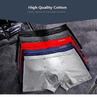 AAA Cotton Men's panties Boxer Men Cotton Para Hombre U convex Boxer Mid Waist Solid Underwear Mens Calsones Homme Bielizna