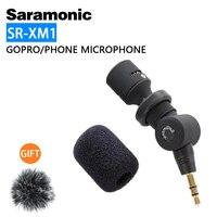 Saramonic-micrófono inalámbrico omnidireccional para GoPro Hero 7, 6, 5, DSLR, DJI, Osmo Action, Pocket, SR-XM1, 3,5mm