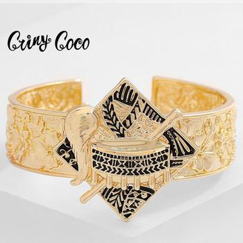 Cring Coco Hawaiian Bracelet Fashion Polynesian Ethnic Tribal Gold Color Drum Jewelry Bangle for Women 2020 New Design Bracelets image