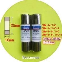 2 pcs/Lot 10 x 35mm DMM-44/100-R, DMM-B-44/100-R  440mA 1000V 10kA Fast-Acting Ceramics Fuse For Multimeter Brand New