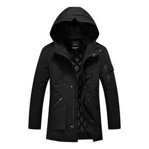 Image 4 - Зимняя бархатная Мужская парка с капюшоном, ветровка хорошего качества, толстая ветрозащитная Повседневная куртка для мужчин 2020, Теплая мужская парка 5XL