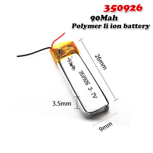90mAh 3.7V 350926 Lithium Polymer Li-Po li ion Rechargeable Battery For MP3 MP4 MP5 GPS DVD tablet Bluetooth camera Lipo cell(China)