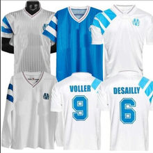 Camisa retro 1992 1993 marselha camisa waddle boli papin pele stojkovic desailly deschamps camisa adulto de alta qualidade