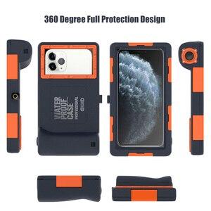 Image 5 - מקצועי צלילה מקרה עבור iPhone 11 פרו מקסימום X XR XS מקסימום מקרה 15 מטרים עמיד למים עומק כיסוי עבור iPhone 7 8 בתוספת Coque מקרה