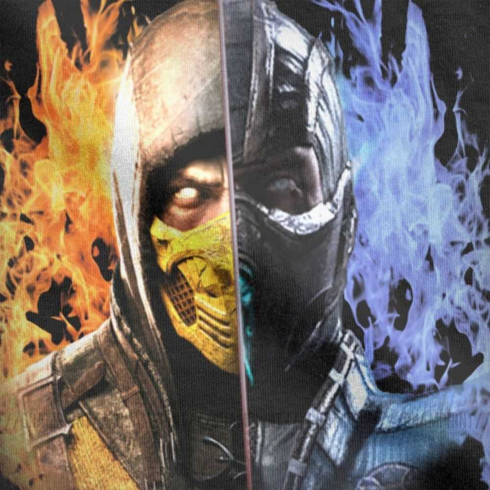 Men Mortal Kombat X Tees Scorpion Vs Sub Zero Clothes Mkx Liu Kang