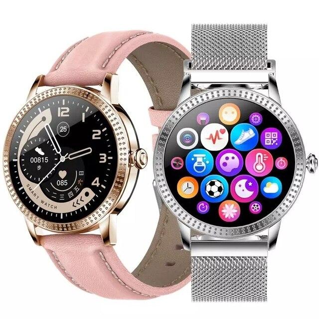 여자 Smartwatch IP67 방수 시계 혈압 모니터 심장 박동 추적기 스마트 팔찌 삼성 Xiaomi 화웨이 CF18