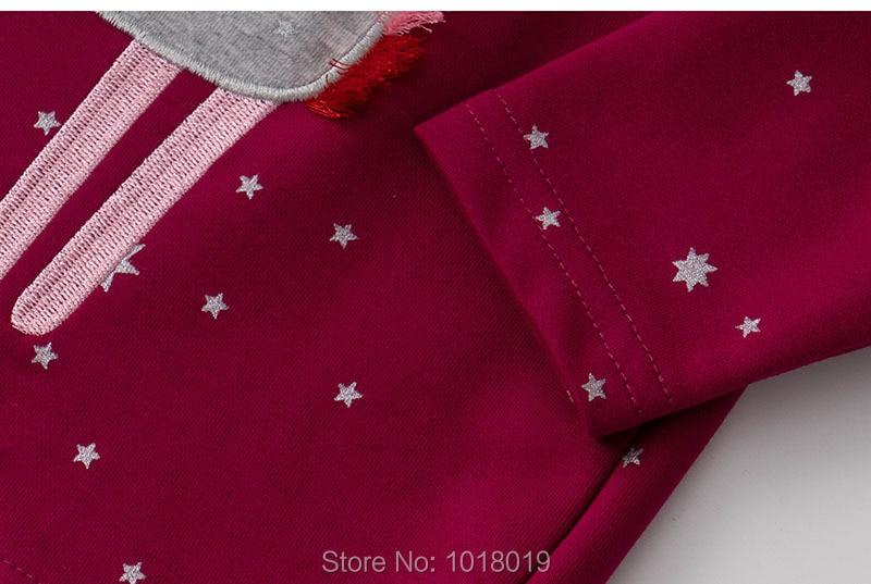 Kids Hoodies Outerwear Bebe Girls Tops Fleeces Sweatshirt Baby Girl Clothes Sweaters 100% Interloop Cotton t shirts Cartoon Tees 5