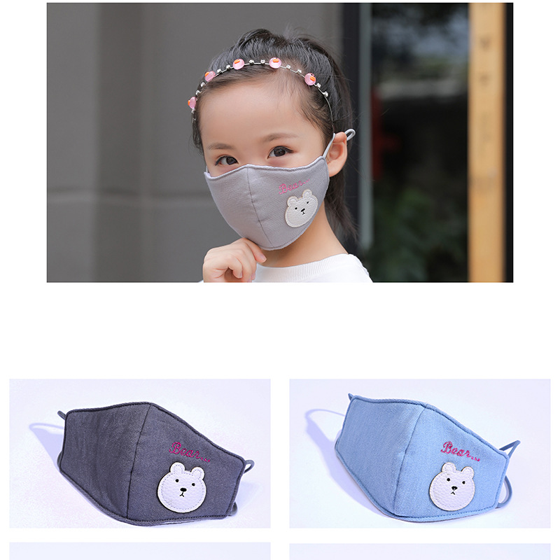 5pcs/Pack New Korean Warm Fashion New Winter Warm Cartoon Children's Mask Cotton Breathable Dust Mask