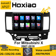 2Din Android 8.1 Radiofonico Auto per Mitsubishi Lancer 2x2007-2018 2017 di Navigazione GPS Bluetooth 4G Wifi AM No DVD Multimedia Player